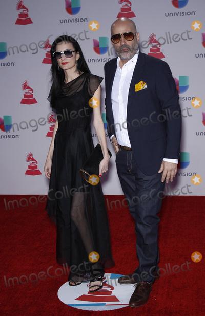 ANDRES LEVIN, Grammy Awards Photo - 19 November 2015 - Las Vegas, NV - CuCu Diamanetes, Andres Levin.  2015 Latin Grammy Awards arrivals at MGM Grand Garden Arena. Photo Credit: MJT/AdMedia