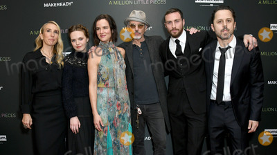 """Giovanni Ribisi, Juliette Lewis, Sam Taylor, Aaron Taylor-Johnson, Sam Taylor-Johnson, Odessa Young, Taylor Johnson Photo - 04 December 2019 - West Hollywood, California - Sam Taylor-Johnson, Odessa Young, Juliette Lewis, Billy Bob Thorton, Aaron Taylor-Johnson, Giovanni Ribisi. Special Screening Of Momentum Pictures' """"A Million Little Pieces"""" held at The London West Hollywood. Photo Credit: Birdie Thompson/AdMedia"""