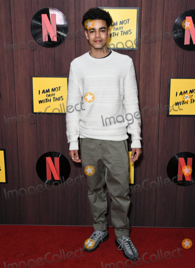 "Amir Wilson Photo - 25 February 2020 - West Hollywood, California - Amir Wilson. Netflix's ""I'm Not Okay With That"" Los Angeles Premiere held at The London West Hollywood. Photo Credit: Birdie Thompson/AdMedia"