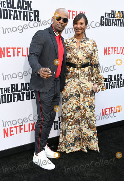 "Avant, Jamie Foxx, Nicole Avant, Jamie Salé Photo - 03 June 2019 - Los Angeles, California - Jamie Foxx, Nicole Avant. Netflix's ""The Black Godfather"" Los Angeles Premiere held at Paramount Theater. Photo Credit: Birdie Thompson/AdMedia"
