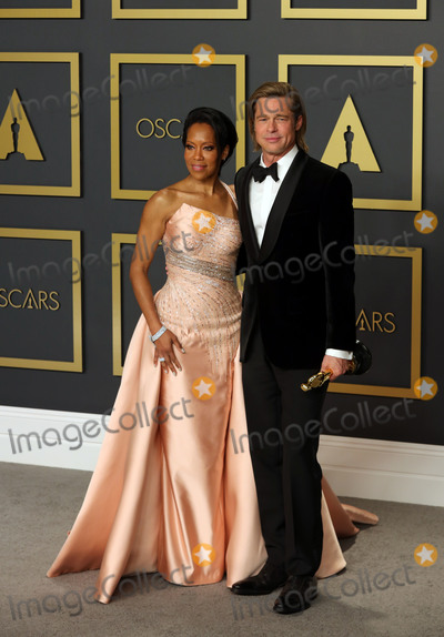 Brad Pitt, King Sunny Adé, Regina King Photo - 09 February 2020 - Hollywood, California -   Regina King, Brad Pitt attend the 92nd Annual Academy Awards presented by the Academy of Motion Picture Arts and Sciences held at Hollywood & Highland Center. Photo Credit: Theresa Shirriff/AdMedia