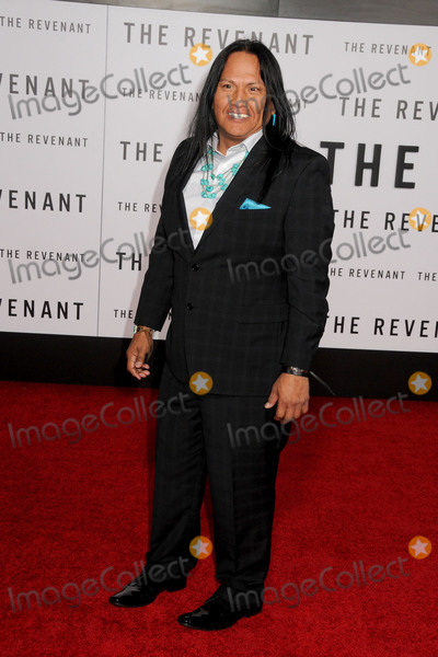 """Arthur Redcloud, TCL Chinese Theatre Photo - 16 December 2015 - Hollywood, California - Arthur Redcloud. """"The Revenant"""" Los Angeles Premiere held at the TCL Chinese Theatre. Photo Credit: Byron Purvis/AdMedia"""