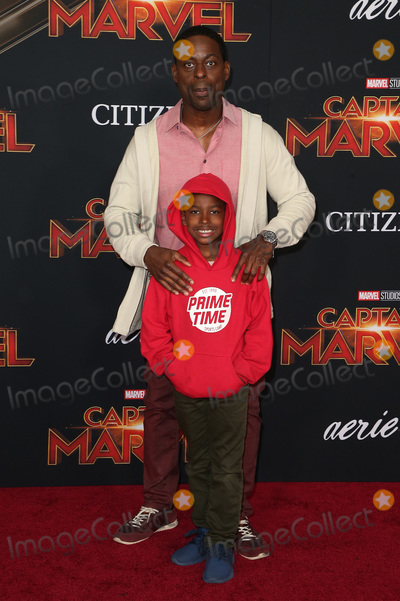 """Andrew Brown Photo - 04 March 2019 - Hollywood, California - Sterling K. Brown, Andrew Brown. """"Captain Marvel"""" Los Angeles Premiere held at El Capitan Theater. Photo Credit: Faye Sadou/AdMedia"""