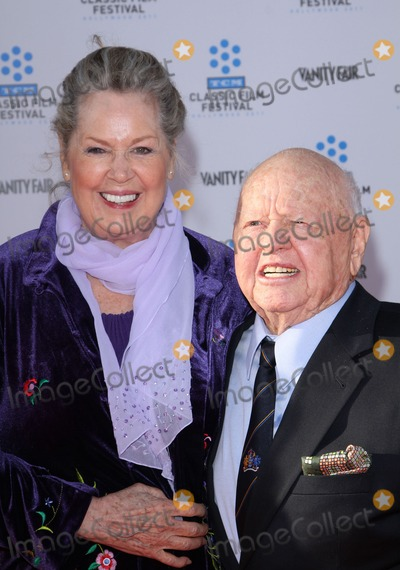 Jan Chamberlin, Mickey Rooney, Rooney, Grauman's Chinese Theatre Photo - 28 April 2011 - Hollywood, California - Mickey Rooney and wife Jan Chamberlin. 2011 TCM Classic Film Festival Opening Night Held At The Grauman Chineses Theatre. Photo: Kevan Brooks/AdMedia