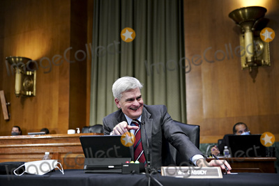 Barack Obama, Cassidy, Joe Biden, Bill Cassidy Photo - United States Senator Bill Cassidy (Republican of Louisiana), smiles while speaking during a Senate Veterans' Affairs Committee confirmation hearing for Denis McDonough, U.S. secretary of Veterans Affairs (VA) nominee for U.S. President Joe Biden, in Washington, D.C., U.S., on Wednesday, Jan. 27, 2021. As Barack Obama's chief of staff, McDonough oversaw the VAs overhaul in response to its 2014 wait-time scandal and previously served as a deputy national security adviser.Credit: Sarah Silbiger / Pool via CNP/AdMedia