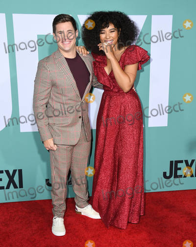 "Adam DeVine, Alexandra Shipp Photo - 03 October 2019 - Westwood, California - Adam Devine, Alexandra Shipp. ""Jexi"" Los Angeles Premiere held at Fox Bruin Theater. Photo Credit: Birdie Thompson/AdMedia"