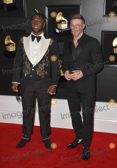 Photo - 10 February 2019 - Los Angeles, California - Julian Edelman, Antonio Brown. 61st Annual GRAMMY Awards held at Staples Center. Photo Credit: AdMedia