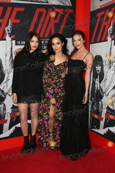 """Alexanne Wagner, Courtney Dietz Photo - 18 March 2019 - Hollywood, California - Alexanne Wagner, Elena Evangelo, Courtney Dietz. Netflix's """"The Dirt"""" World Premiere held at The Wolf Theatre at The ArcLight Cinemas Cinerama Dome. Photo Credit: Faye Sadou/AdMedia"""