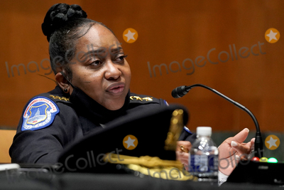 Photo - Acting United States Capitol Police Chief Yogananda Pittman answers questions during a Senate Appropriations Subcommittee hearing to examine the FY 2022 budget request for the Architect of the Capitol, Senate Sergeant of Arms and the U.S. Capitol Police on Wednesday, April 21, 2021 at the U.S. Capitol in Washington, D.C.Credit: Greg Nash / Pool via CNP