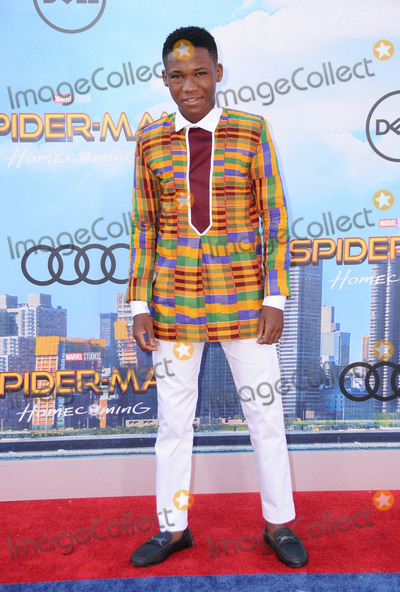 """Abraham Attah, Spider Man, Spider-Man, Spiderman, TCL Chinese Theatre Photo - 28 June 2017 - Hollywood, California - Abraham Attah. """"Spider-Man: Homecoming"""" Los Angeles Premiere held at the TCL Chinese Theatre in Hollywood. Photo Credit: Birdie Thompson/AdMedia"""