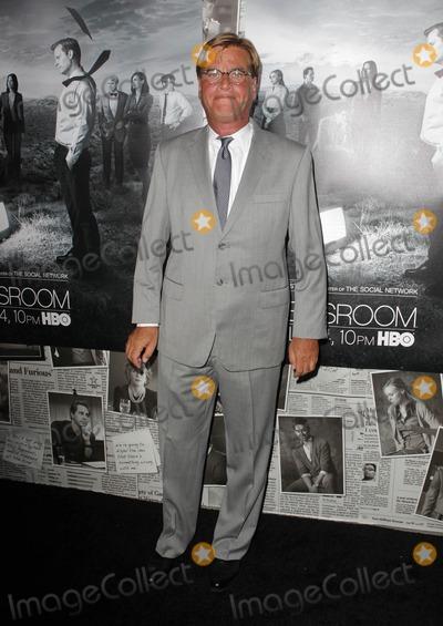 "Aaron Sorkin Photo - 10 July 2013 - Hollywood, California - Aaron Sorkin. Los Angeles Season 2 Premiere Of HBO's Series ""The Newsroom"" Held At Paramount Studios lot. Photo Credit: Kevan Brooks/AdMedia"