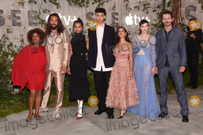 "Alfre Woodard, Christian Camargo, Jason Momoa, Sylvia Hoeks, Nesta Cooper, Hera Hilmar, Yadira Guevara-Prip, Archie Madekwe Photo - 21 October 2019 - Westwood, California - Alfre Woodard, Jason Momoa, Nesta Cooper, Archie Madekwe, Hera Hilmar, Yadira Guevara-Prip, Sylvia Hoeks, Christian Camargo . World Premiere of Apple TV+'s ""See"" held at Fox Village Theater. Photo Credit: Billy Bennight/AdMedia"