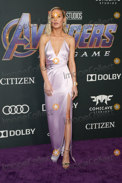 "Brie Larson Photo - 22 April 2019 - Los Angeles, California - Brie Larson. Marvel Studios' ""Avengers: Endgame"" Los Angeles Premiere held at Los Angeles Convention Center. Photo Credit: F. Sadou/AdMedia"