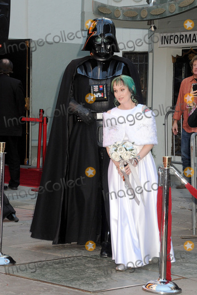 """Caroline Ritter, TCL Chinese Theatre Photo - 17 December 2015 - Hollywood, California - Caroline Ritter. Fans Get Married With """"Star Wars"""" Themed Wedding held at the TCL Chinese Theatre IMAX. Photo Credit: Byron Purvis/AdMedia"""