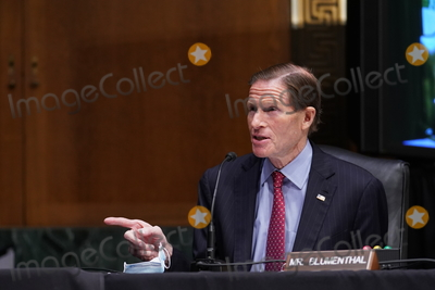Barack Obama, Joe Biden Photo - United States Senator Richard Blumenthal (Democrat of Connecticut), speaks during a Senate Veterans' Affairs Committee confirmation hearing for Denis McDonough, U.S. secretary of Veterans Affairs (VA) nominee for U.S. President Joe Biden, in Washington, D.C., U.S., on Wednesday, Jan. 27, 2021. As Barack Obama's chief of staff, McDonough oversaw the VA's overhaul in response to its 2014 wait-time scandal and previously served as a deputy national security adviser. Credit: Sarah Silbiger / Pool via CNP/AdMedia