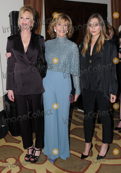 "Elizabeth Olsen, Jane Fonda, Melanie Griffith, Melanie Griffiths Photo - 05 December 2016 - Beverly Hills, California. Melanie Griffith, Jane Fonda, Elizabeth Olsen.   Equality Now's 3rd Annual ""Make Equality Reality"" Gala  held at Montage Beverly Hills. Photo Credit: Birdie Thompson/AdMedia"