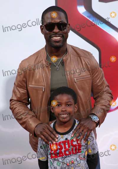 """Andrew Brown, TCL Chinese Theatre Photo - 28 March 2019 - Hollywood, California - Sterling K. Brown, Andrew Brown. Warner Bros. Pictures and New Line Cinema World Premiere of """"SHAZAM!"""" held at TCL Chinese Theatre. Photo Credit: Faye Sadou/AdMedia"""