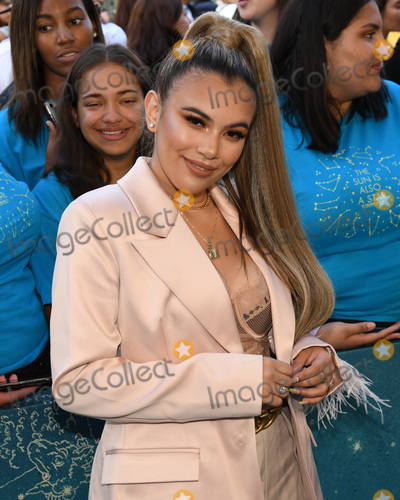 "Adelaine Morin Photo - 13 May 2019 - Los Angeles, California - Adelaine Morin. ""The Sun Is Also A Star"" Warner Bros World Premiere held at Pacific Theatres at The Grove. Photo Credit: Billy Bennight/AdMedia"