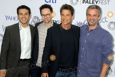 "Fred Savage, Rob Lowe, Jarrad Paul, Andrew Mogel Photo - 15 September 2015 - Beverly Hills, California - Fred Savage, Jarrad Paul, Rob Lowe, Andrew Mogel. 2015 PaleyFest Fall TV Preview - ""The Grinder"" held at The Paley Center. Photo Credit: Byron Purvis/AdMedia"