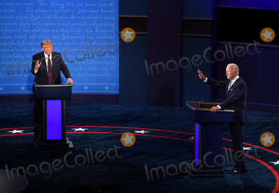 Presidential Campaign, Joe Biden, Vice President Joe Biden Photo - United States President Donald J. Trump and Democratic presidential nominee former United States Vice President Joe Biden face off in the first of three scheduled 90 minute presidential debates, in Cleveland, Ohio, on Tuesday, September 29, 2020. 
