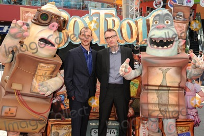 """Anthony Stacchi, Graham Annable Photo - 21 September 2014 - Universal City, California - Anthony Stacchi, Graham Annable. """"The Boxtrolls"""" Los Angeles Premiere held at Universal CityWalk. Photo Credit: Byron Purvis/AdMedia"""