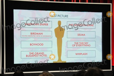 Photo - 15 January 2015 - Los Angeles, California - Atmosphere, Best Picture Nominees. 87th Annual Academy Awards Nominations Announcements. Photo Credit: Byron Purvis/AdMedia