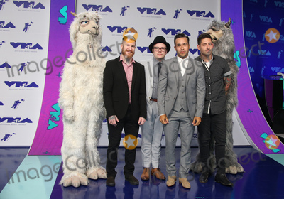 Andy Hurley, Fall Out Boy, Joe Trohman, Patrick Stump, Pete Wentz, Joe Corré Photo - 27 August 2017 - Los Angeles, California - Andy Hurley, Patrick Stump, Pete Wentz and Joe Trohman of Fall Out Boy. 2017 MTV Video Music Awards held at The Forum. Photo Credit: F. Sadou/AdMedia