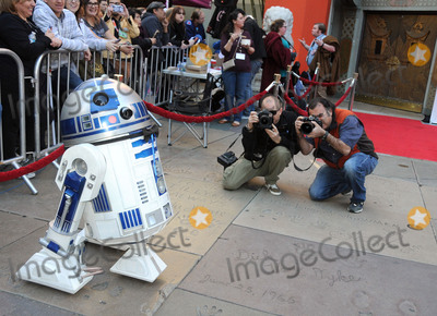 """R2 D2, R2-D2, R2D2, TCL Chinese Theatre Photo - 17 December 2015 - Hollywood, California - Atmosphere, R2D2, R2-D2. Fans Get Married With """"Star Wars"""" Themed Wedding held at the TCL Chinese Theatre IMAX. Photo Credit: Byron Purvis/AdMedia"""