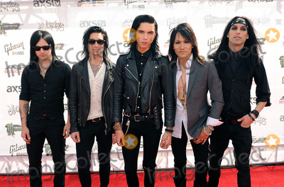 """Jake Pitts, Ashley Purdy, Andy Biersack Photo - 22 July 2015 - Cleveland, Ohio - Jinx, Jake Pitts, Andy Biersack, Ashley Purdy and Christian """"CC"""" Coma of the band Black Veil Brides attend the 2015 Alternative Press Music Awards at Quicken Loans Arena. Photo Credit: Jason L Nelson/AdMedia"""