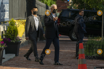 Photo - United States President Joe Biden departs from Holy Trinity Catholic Church in Washington, DC after attending services on Saturday, June 5, 2021. Credit: Chris Kleponis / Pool via CNP/AdMedia