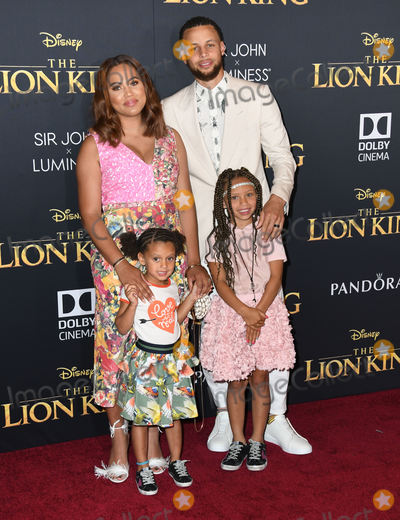 "Ayesha Curry, Steph Curry Photo - 09 July 2019 - Hollywood, California - Steph Curry, Ayesha Curry. Disney's ""The Lion King"" Los Angeles Premiere held at Dolby Theatre. Photo Credit: Birdie Thompson/AdMedia"