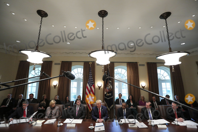 Donald Trump, Devo, Rick Perry, White House, The White, Alex Azar, Ben Carson, Robert Wilkie Photo - United States President Donald J. Trump speaks during a Cabinet Meeting in the Cabinet Room of the White House on November 19, 2019 in Washington, DC.  From left to right: US Secretary of Energy Rick Perry, US Secretary of Education Betsy DeVos, US Secretary of Veterans Affairs (VA) Robert Wilkie, The President, US Secretary of Housing and Urban Development (HUD) Ben Carson, US Secretary of Health and Human Services (HHS) Alex Azar.Credit: Oliver Contreras / Pool via CNP/AdMedia