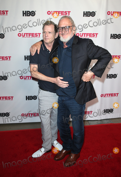 """Robert Englund, Mark Patton, Teairra Marí Photo - 20 July 2019 - Hollywood, California - AMark Patton, Robert Englund. Cast Reunion Of New Line Cinema's """"Nightmare On Elm Street"""" At Outfest Film Festival held at TCL Chinese 6 Theatres. Photo Credit: Faye Sadou/AdMedia"""