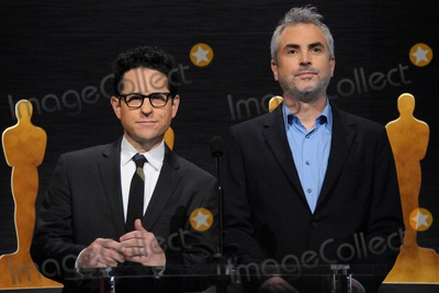 Alfonso Cuaron, J J Abrams, J. J. Abrams, JJ Abrams, J.J. Abrams, J.J Abrams, Alfonso André Photo - 15 January 2015 - Los Angeles, California - J.J. Abrams, Alfonso Cuaron. 87th Annual Academy Awards Nominations Announcements. Photo Credit: Byron Purvis/AdMedia