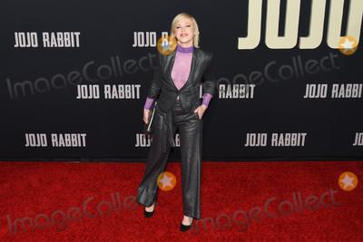 "Adrienne Frantz, JoJo Photo - 15 October 2019 - Los Angeles, California - Adrienne Frantz. Fox Searchlight ""Jojo Rabbit"" Los Angeles Premiere held at American Legion Post 43. Photo Credit: Billy Bennight/AdMedia"
