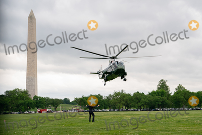 Jill Biden, Joe Biden, Marine One, White House, The White Photo - Marine One, carrying U.S. President Joe Biden and First Lady Jill Biden, arrives  to the White House Ellipse after a visit to Virginia, in Washington, D.C., U.S., on Monday, May 3, 2021. Biden's $4 trillion vision of remaking the federal government's role in the U.S. economy is now in the hands of Congress, where both parties see a higher chance of at least some compromise than for the administrations pandemic-relief bill. Credit: Erin Scott / Pool via CNP/AdMedia
