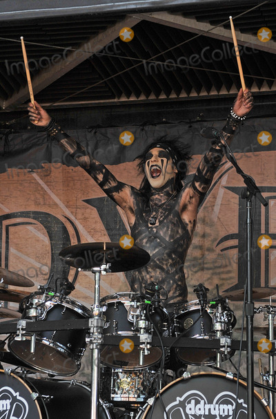 Christian Coma Photo - 20 July 2011 - Cleveland, OH - Drummer CHRISTIAN COMA of the band BLACK VEIL BRIDES performs on a stop of the Vans Warped Tour 2011 held at the Blossom Music Center.  Photo Credit: Jason L Nelson/AdMedia