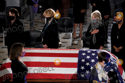 Photo - Current and former members of Congress pay their respects as the late Justice Ruth Bader Ginsburg lies in state at National Statuary Hall in the U.S. Capitol on Friday, September 25, 2020. Ginsburg died at the age of 87 on Sept. 18th and is the first women to lie in state at the Capitol.Credit: Greg Nash / Pool via CNP/AdMedia