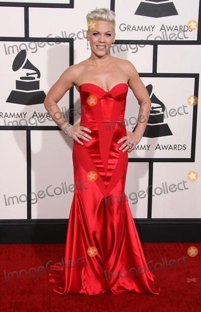 Alecia Moore, Pink, Pink (Alecia Moore), Grammy Awards Photo - 26 January 2014 - Los Angeles, California - Pink, Alecia Moore. 56th GRAMMY Awards held at the Staples Center. Photo Credit: AdMedia