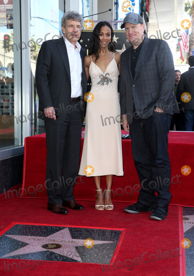 Alan Horn, Alan Horne, Zoe Saldana, Kevin Feige Photo - 03 May 2018 - Hollywood California - Alan Horn, Zoe Saldana, Kevin Feige. Zoe Saldana Honored With A Star On The Hollywood Walk Of Fame. Photo Credit: F. Sadou/AdMedia