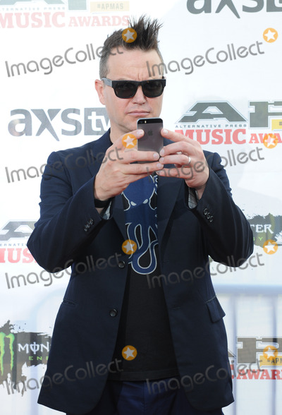Mark Hoppus, Blink 182, blink-182, THE ROCK, Teairra Marí Photo - 21 July 2014 - Cleveland, OH - Frontman MARK HOPPUS of the pop punk band BLINK 182 attends the 1st Annual 2014 Gibson Brands AP Music Awards at the Rock and Roll Hall of Fame and Museum   Photo Credit: Jason L Nelson/AdMedia