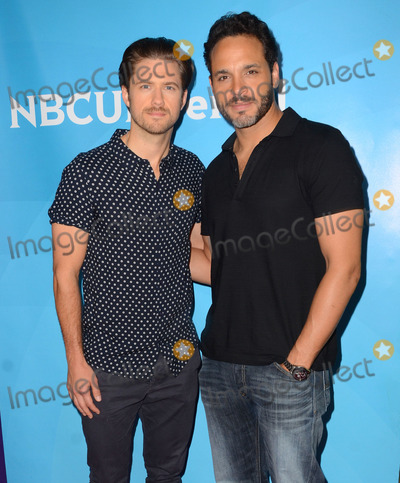 Aaron Tveit, Daniel Sunjata Photo - 02 April 2015 - Pasadena, California - Aaron Tveit, Daniel Sunjata. Arrivals for the NBC Universal Summer Press Day held at Langham Hotel. Photo Credit: Birdie Thompson/AdMedia