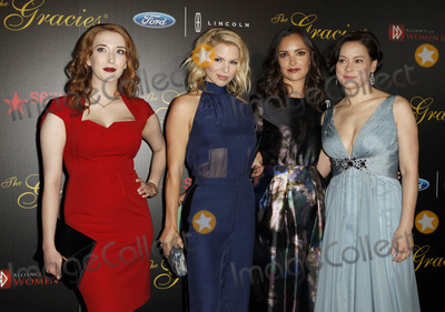 Meg Tilly, Jodi Balfour, Ali Liebert, Ali Farka Touré Photo - 21 May 2013 - Beverly Hills, California - Charlotte Hegele, Ali Liebert, Jodi Balfour and Meg Tilly.  Gracie Awards Gala 2013 held at Beverly Hilton Hotel.  Photo credit: Emiley Schweich/AdMedia