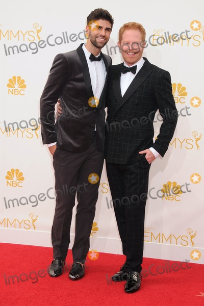 Jesse Tyler Ferguson, Justin Mikita, Jesse Tyler Photo - 25 August 2014 - Los Angeles, California - Justin Mikita, Jesse Tyler Ferguson. 66th Annual Primetime Emmy Awards - Arrivals held at Nokia Theatre LA Live. Photo Credit: Byron Purvis/AdMedia