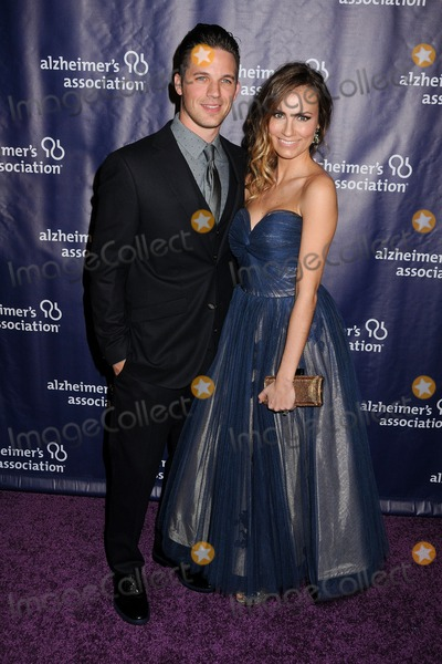 "Matt Lanter, Angela Lanter Photo - 18 March 2015 - Beverly Hills, California - Matt Lanter, Angela Lanter. 23rd Annual ""A Night at Sardi's"" Benefit for the Alzheimer's Association held at The Beverly Hilton Hotel. Photo Credit: Byron Purvis/AdMedia"