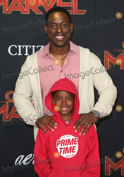 "Andrew Brown Photo - 04 March 2019 - Hollywood, California - Sterling K. Brown, Andrew Brown. ""Captain Marvel"" Los Angeles Premiere held at El Capitan Theater. Photo Credit: Faye Sadou/AdMedia"