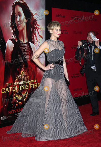 """Jennifer Lawrence Photo - 18 November 2013 - Los Angeles, California - Jennifer Lawrence. """"The Hunger Games: Catching Fire"""" Los Angeles Premiere held at Nokia Theatre LA Live. Photo Credit: Russ Elliot/AdMedia"""