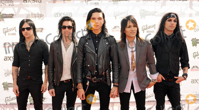 "Jake Pitts, Ashley Purdy, Andy Biersack Photo - 22 July 2015 - Cleveland, Ohio - Jinx, Jake Pitts, Andy Biersack, Ashley Purdy and Christian ""CC"" Coma of the band Black Veil Brides attend the 2015 Alternative Press Music Awards at Quicken Loans Arena. Photo Credit: Jason L Nelson/AdMedia"