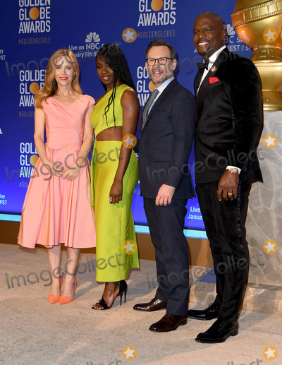 Christian Slater, Leslie Mann, Terry Crews, Danai Gurira, Terry Crewes Photo - 06 December 2018 - Beverly Hills, California - Leslie Mann, Danai Gurira, Christian Slater, Terry Crews. 76th Annual Golden Globe Nominations Announcement held at the Beverly Hilton Hotel. Photo Credit: Birdie Thompson/AdMedia