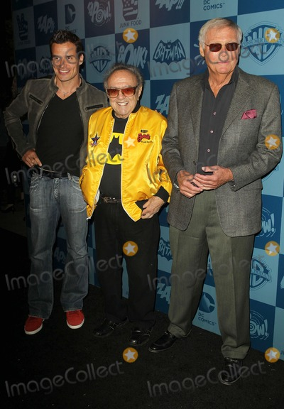 Adam West, Antonio Sabato Jr., Antonio Sabato, Jr., George Barris, Batman Photo - 21 March 2013 - Los Angeles, California - ,Antonio Sabato Jr., George Barri, Adam West. WARNER BROS. CONSUMER PRODUCTS AND JUNK FOOD CLOTHING LAUNCH 1960S BATMAN CLASSIC TV SERIES PRODUCT LINE Held At Meltdown Comics. Photo Credit: Kevan Brooks/AdMedia